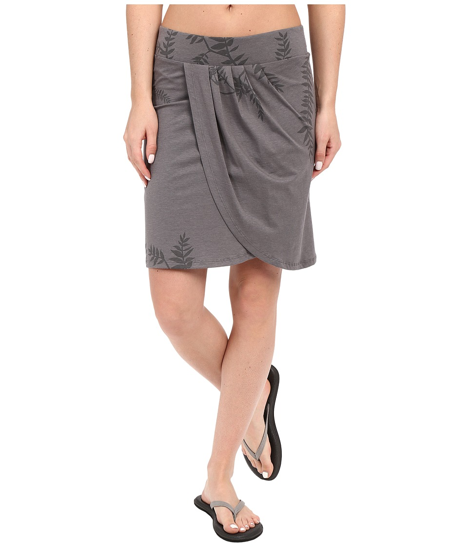 Toad&Co - Adella Skirt (Smoke Foliage Print) Women's Skirt