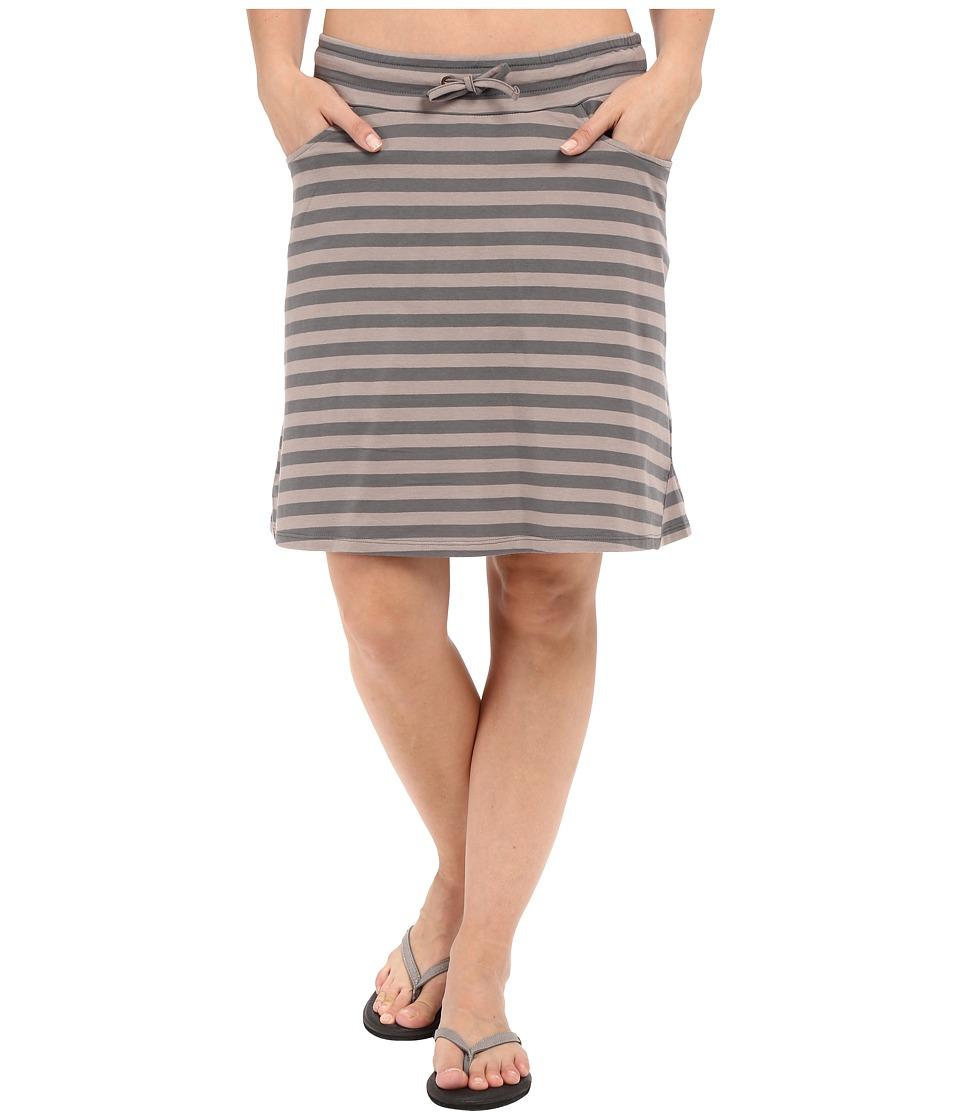 Toad&Co Tica Skirt (Cocoa Stripe) Women