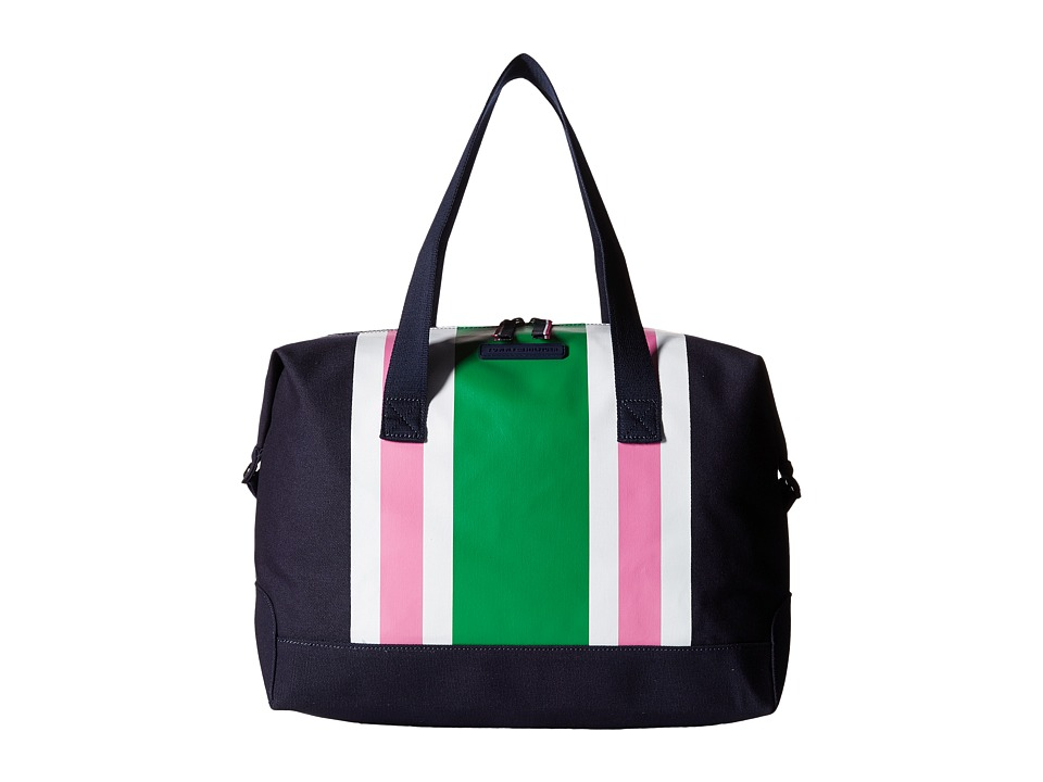 Tommy Hilfiger - Stripes Canvas Weekender (Navy/Green/Pink) Duffel Bags