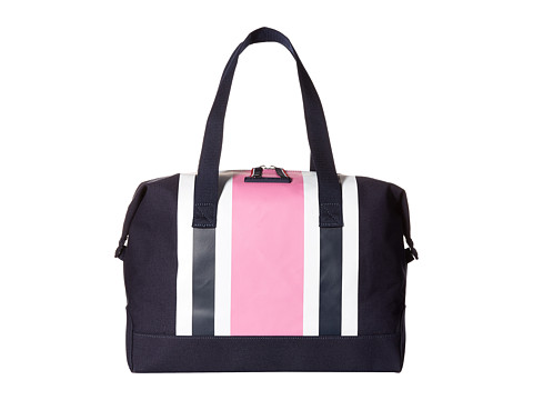 Tommy Hilfiger - Stripes Canvas Weekender (Navy/Pink/Navy) Duffel Bags