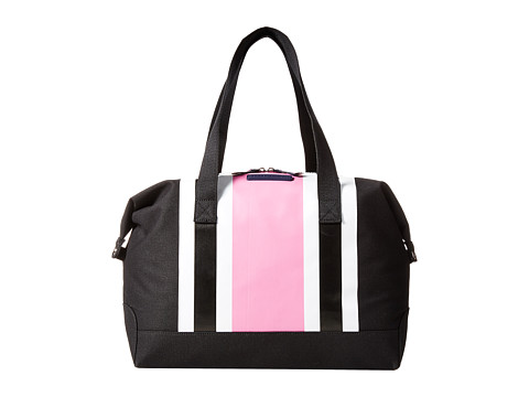 Tommy Hilfiger - Stripes Canvas Weekender (Black/Pink/White) Duffel Bags