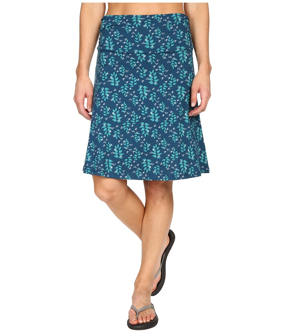 Toad&Co - Chaka Skirt (Inky Teal Found Forest) Women's Skirt