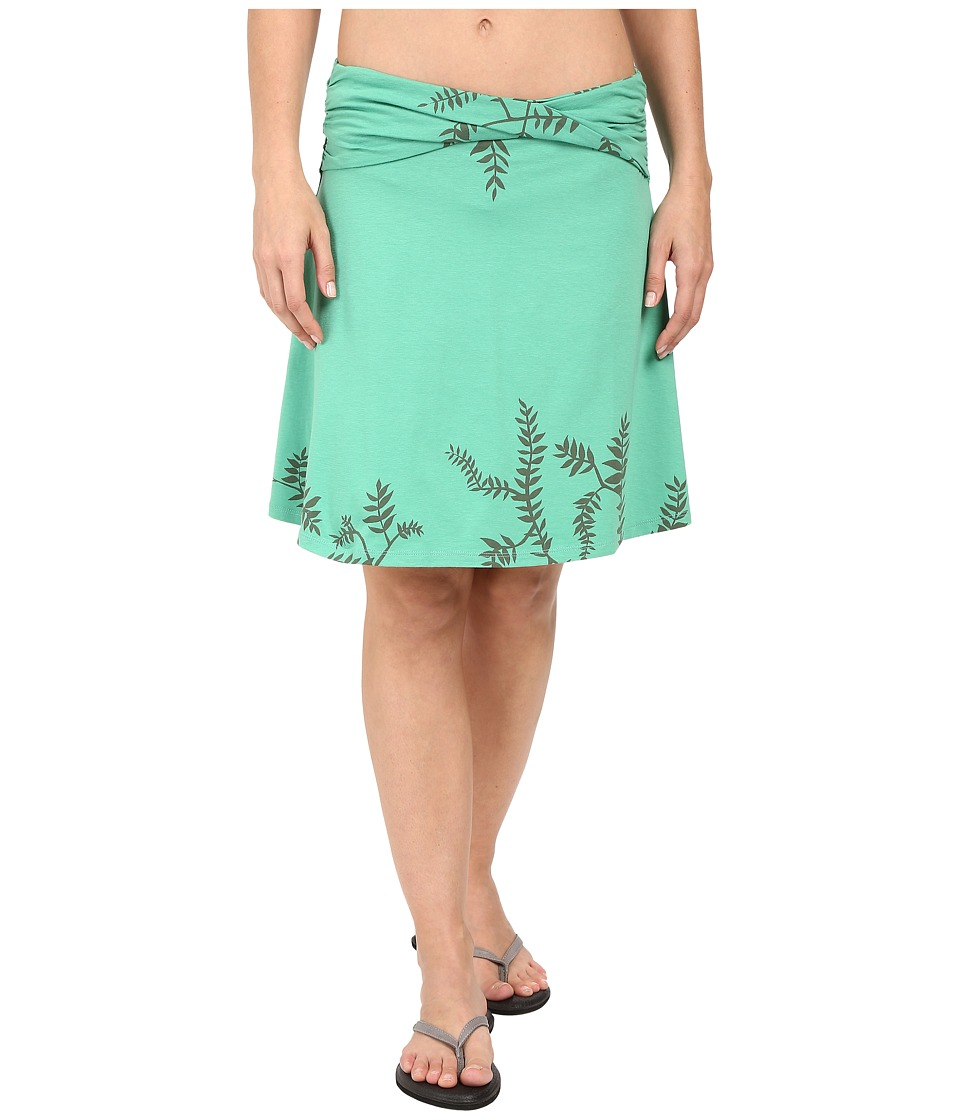 Toad&Co Twila Skirt (Green Awning Foliage Print) Women