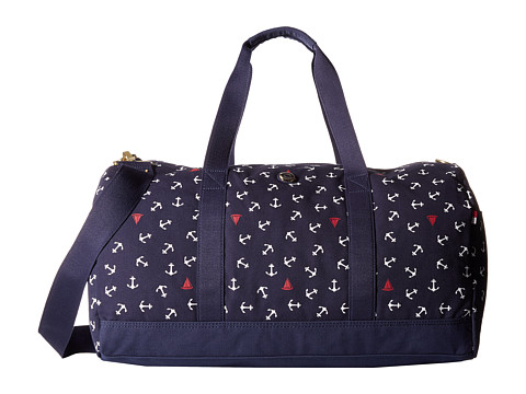 Tommy Hilfiger - Canvas Toss Anchor Medium Duffel (Navy) Duffel Bags