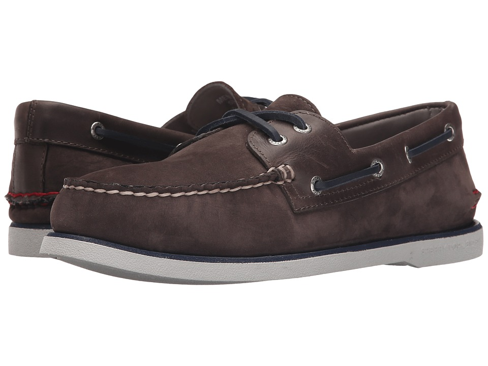 Sperry Top-Sider - Gold A/O 2-Eye Nubuck (Grey) Men's Slip on Shoes
