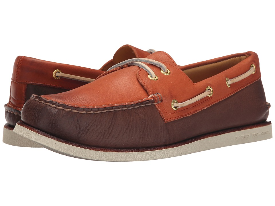 Sperry - Gold A/O 2-Eye Wedge (Brown/Orange) Men's Slip on Shoes