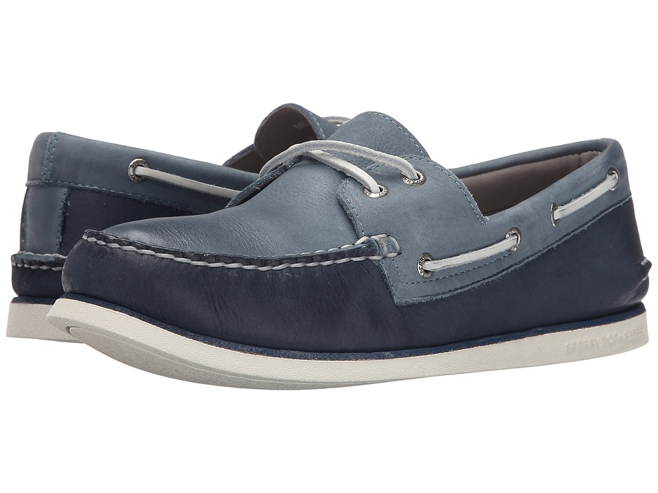 Sperry Top-Sider - Gold A/O 2-Eye Wedge (Navy/Blue) Men's Slip on Shoes
