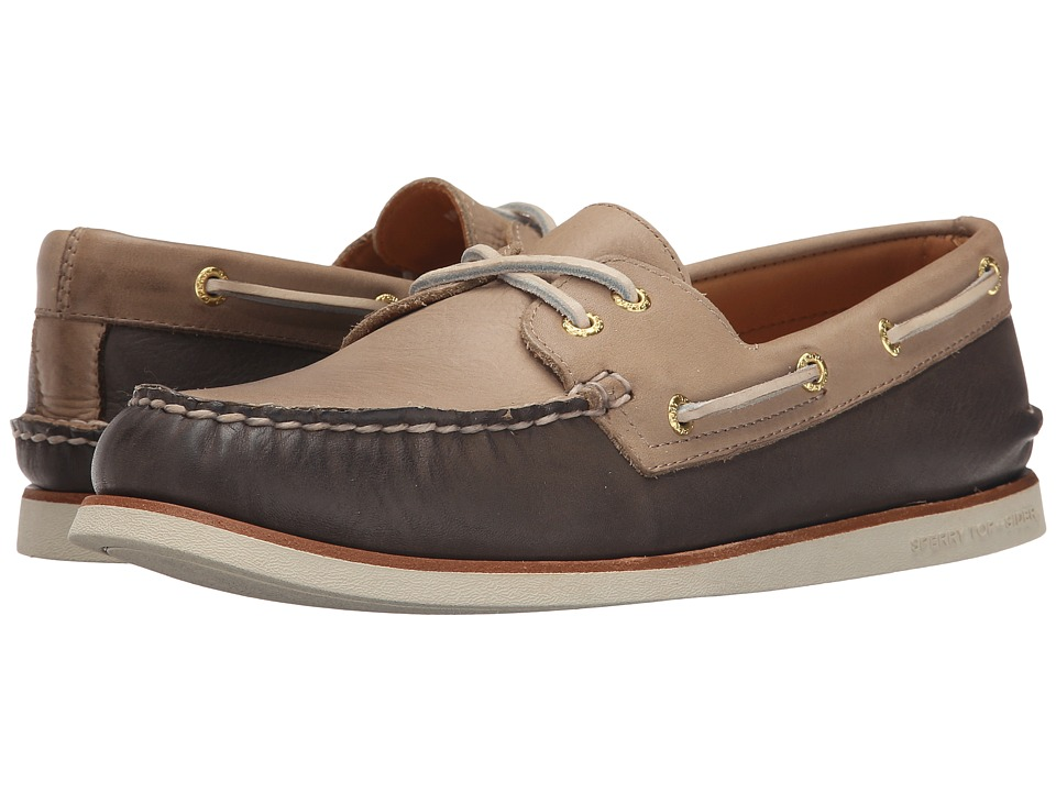 Sperry - Gold A/O 2-Eye Wedge (Taupe/Coffee) Men's Slip on Shoes