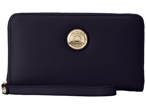 Tommy Hilfiger - Signature Coin Travel Zip Wallet (Navy) Wallet Handbags