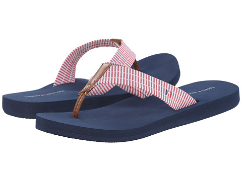 Tommy Hilfiger - Calie (Formula One/Tan/Lake Stripe) Women's Sandals