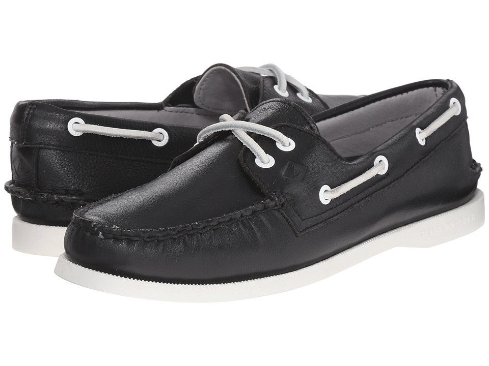 Sperry Top-Sider - A/O 2-Eye Leather (Black) Women's Lace up casual Shoes