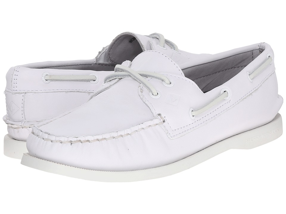 Sperry Top-Sider - A/O 2-Eye Leather (Bright White) Women's Lace up casual Shoes