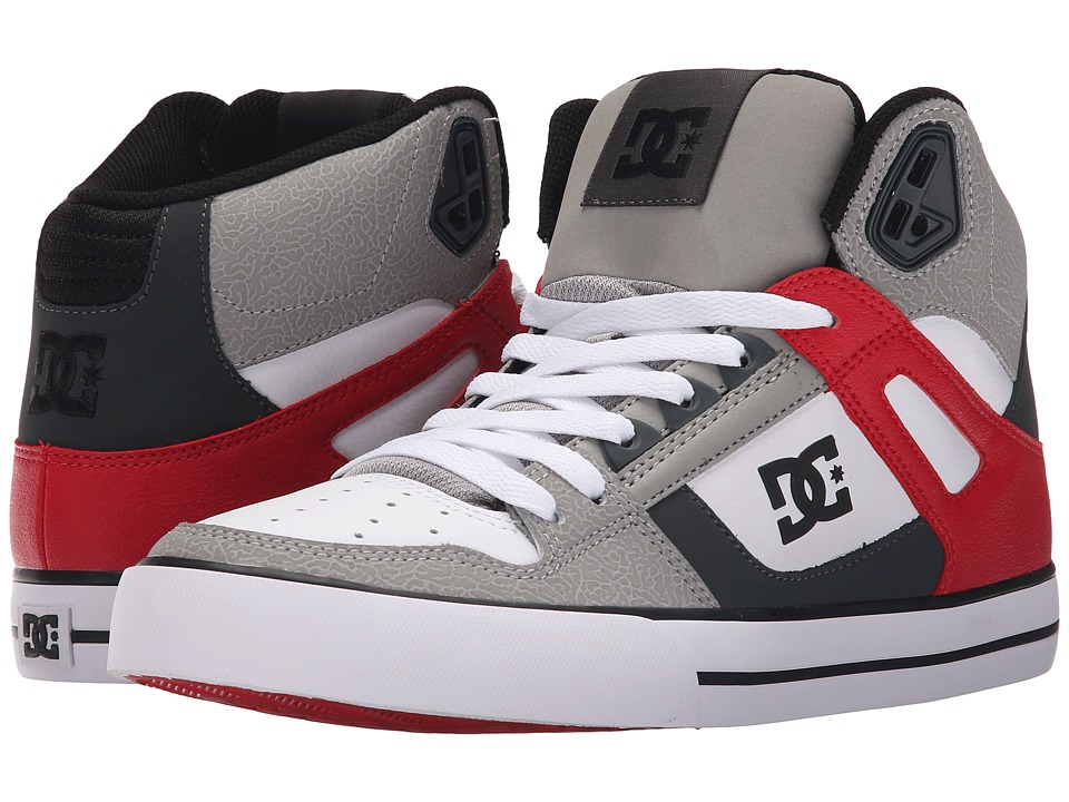 DC - Spartan High WC (Grey/Red/White) Men's Shoes