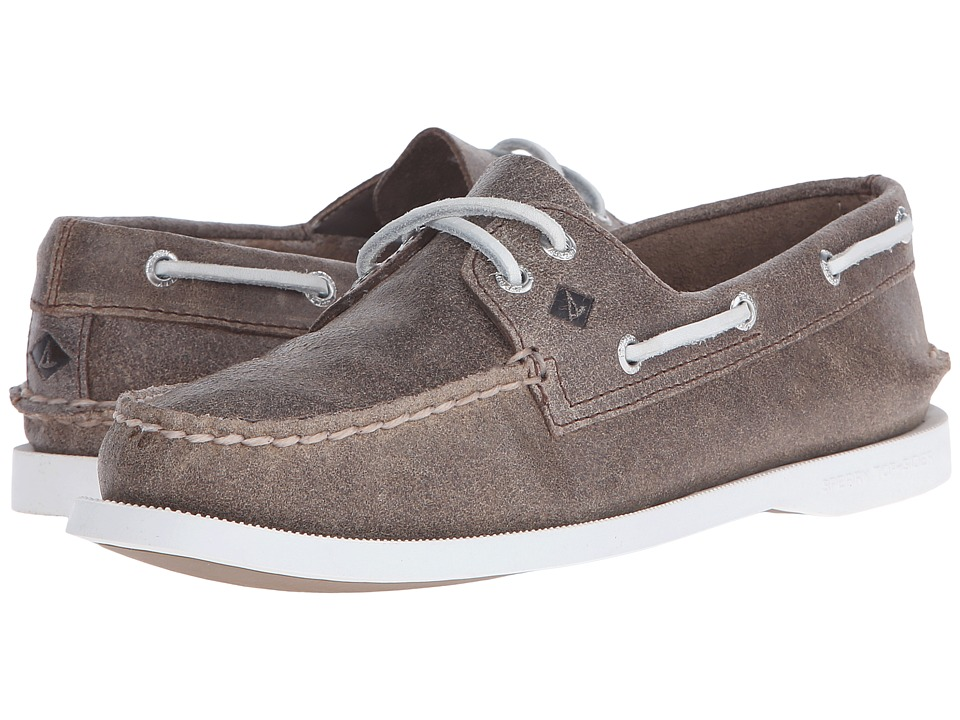 Sperry - A/O 2 Eye White Cap (Brown) Women's Lace up casual Shoes