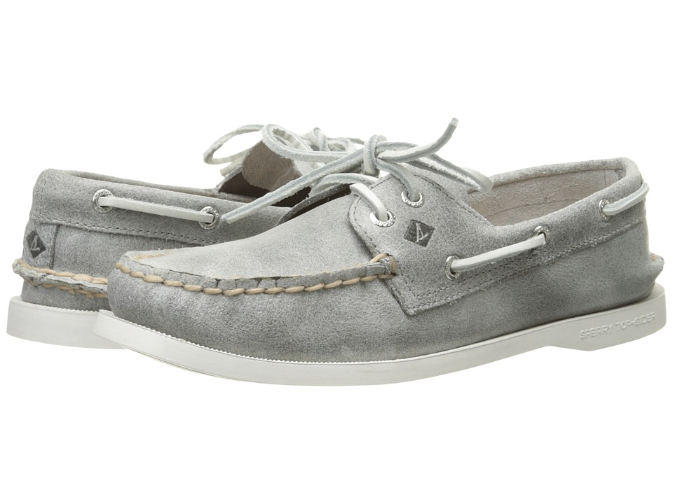 Sperry - A/O 2 Eye White Cap (Grey) Women's Lace up casual Shoes
