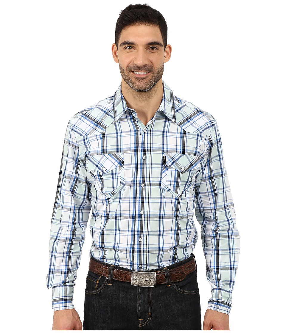 Cinch - Modern Fit Western Plain Shirt (White) Men
