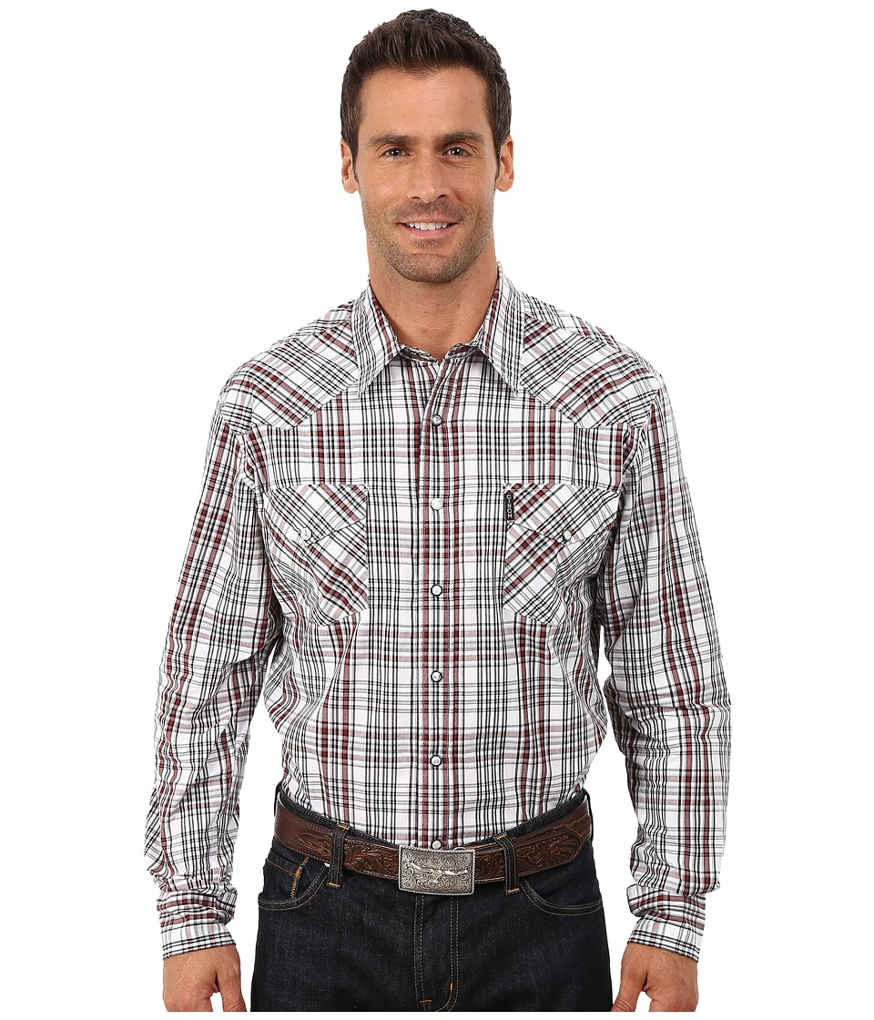 Cinch - Modern Fit Western Plaid (White 1) Men