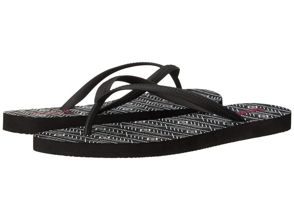 Reef - Chakras Prints (Black/Tribal) Women's Sandals
