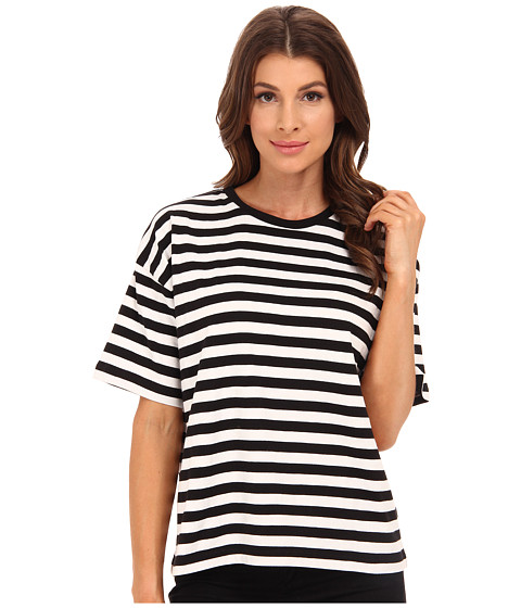 French Connection - Carnaby Stripe Top 76EAS (Black/Winter White) Women's Dress