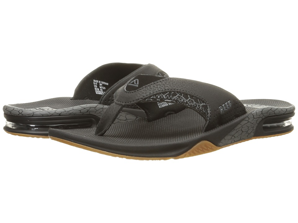Reef - Fanning Prints (Grey Crackle) Men's Sandals