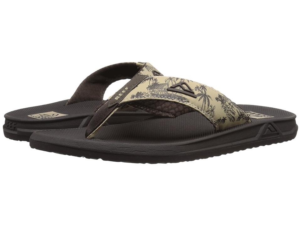 Reef - Phantom Prints (Tan Palm) Men's Sandals