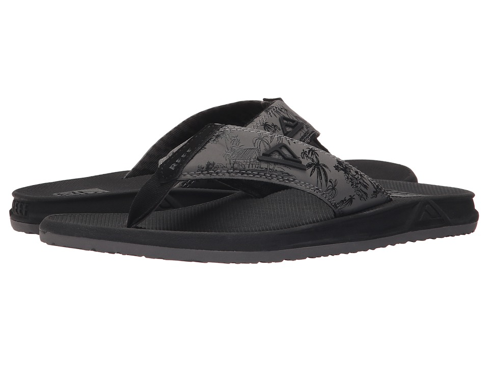 Reef - Phantom Prints (Charcoal Palm) Men's Sandals