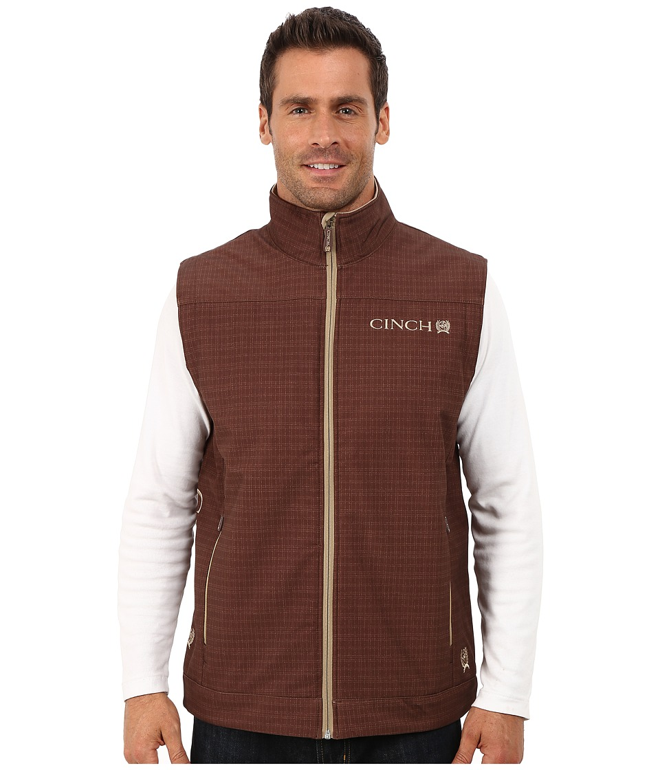 Cinch - Bonded Vest (Brown) Men's Clothing