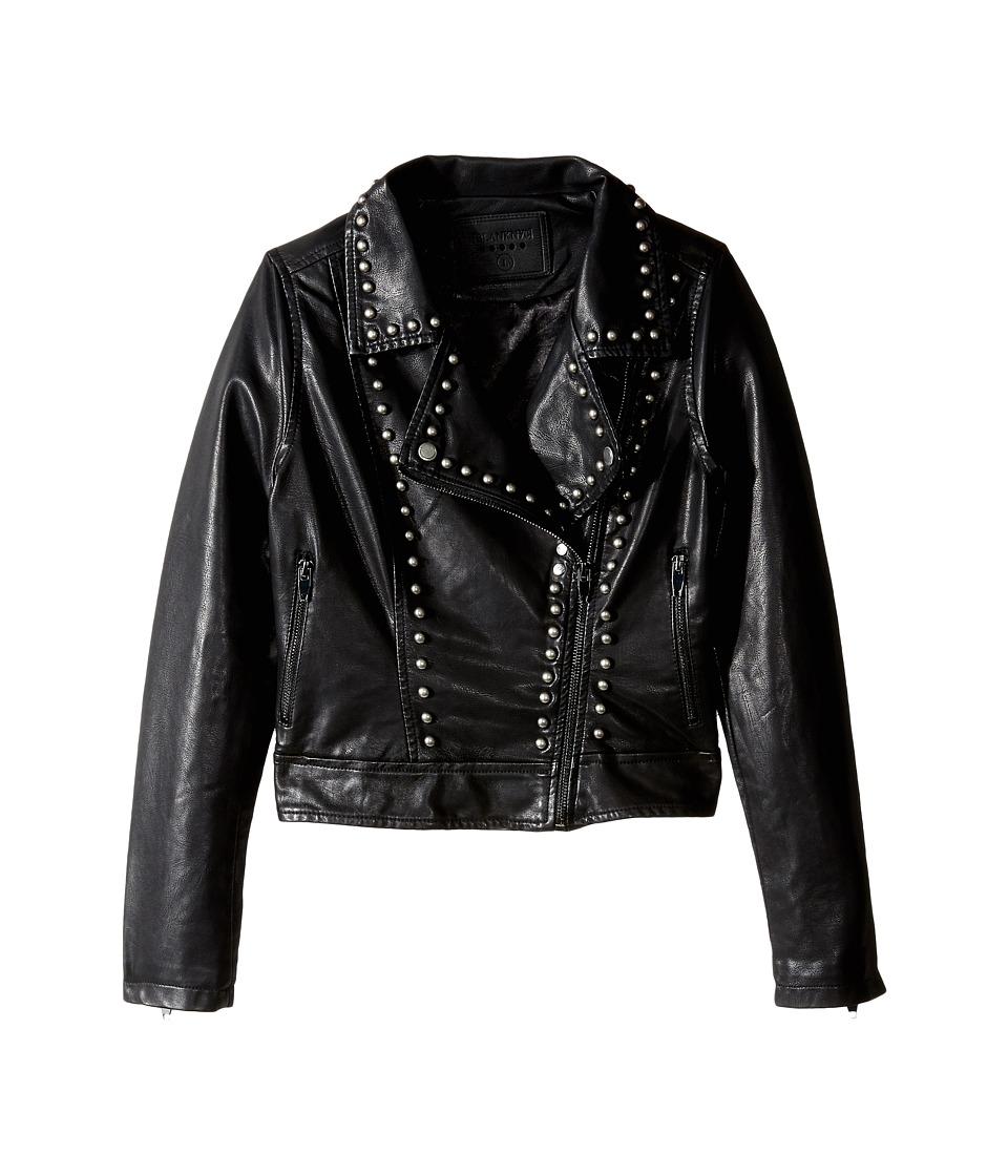 Blank NYC Kids - Black Studded Moto Jacket (Big Kids) (Show Stopper) Girl's Coat