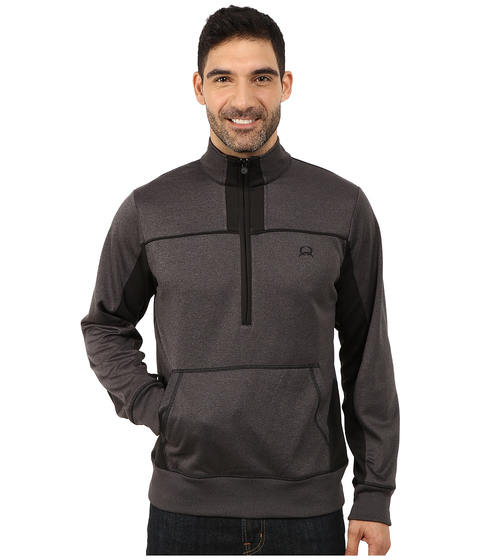 Cinch - Half Zip Pullover (Grey) Men's Clothing
