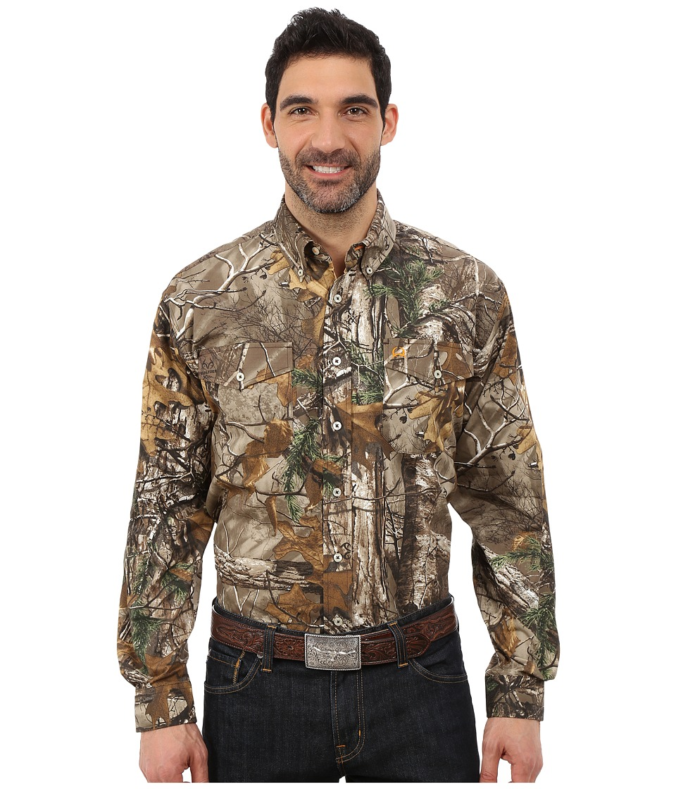 Cinch - Extra Camo Long Sleeve Double Pocket (Assorted) Men's Clothing