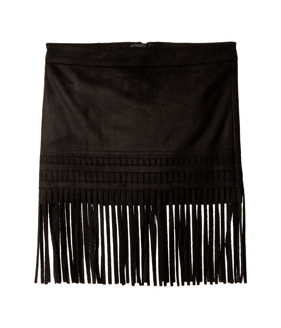 Blank NYC Kids - Faux Suede Mini Skirt with Fringe Trim (Big Kids) (Seal The Deal) Girl