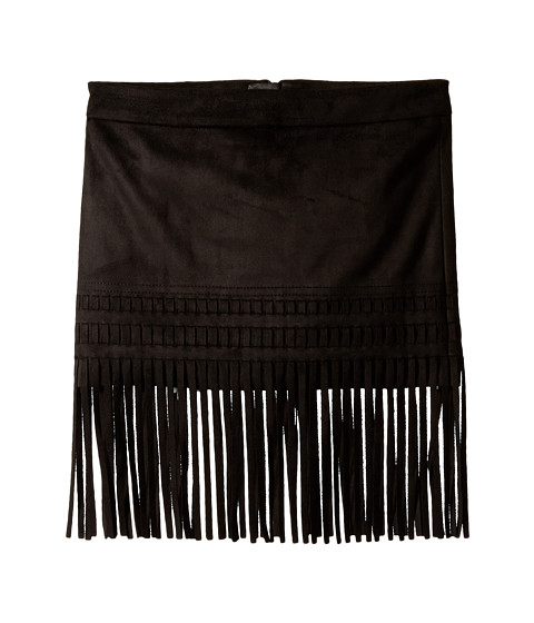 Blank NYC Kids - Faux Suede Mini Skirt with Fringe Trim (Big Kids) (Seal The Deal) Girl's Skirt