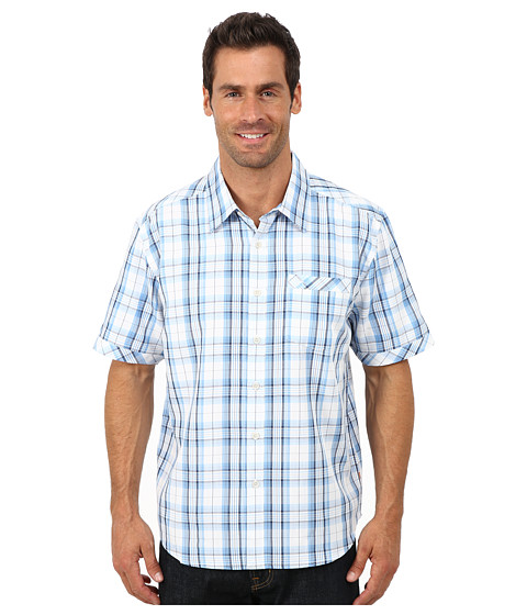 Quiksilver Waterman - Todos Santos Short Sleeve Shirt (Azure) Men
