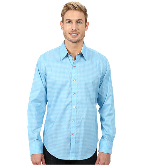 Robert Graham - Greymouth Long Sleeve Woven Shirts (Azul) Men's Clothing
