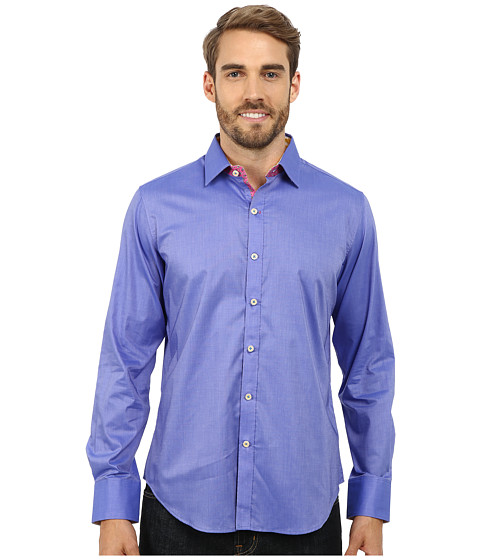 Robert Graham - Houseboat Long Sleeve Woven Shirt (Lilac) Men's Clothing