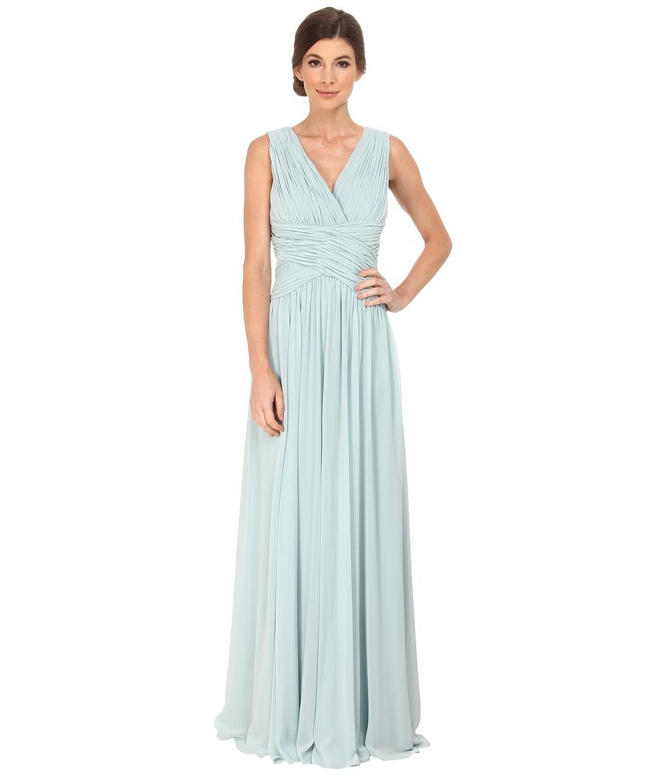 Donna Morgan Bra Friendly Chiffon Bella Blue Dress