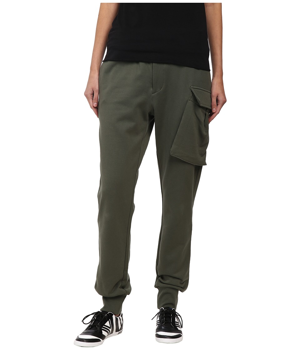 adidas Y-3 by Yohji Yamamoto - Flight Track Pants (Base Green/Camou 1) Women's Casual Pants