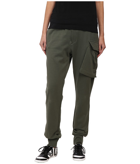 adidas Y-3 by Yohji Yamamoto - Flight Track Pants (Base Green/Camou 1) Women
