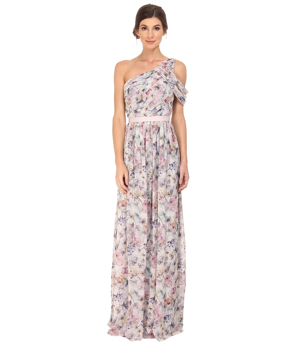 Donna Morgan - Printed One Shoulder (Pink Multi) Women's Dress