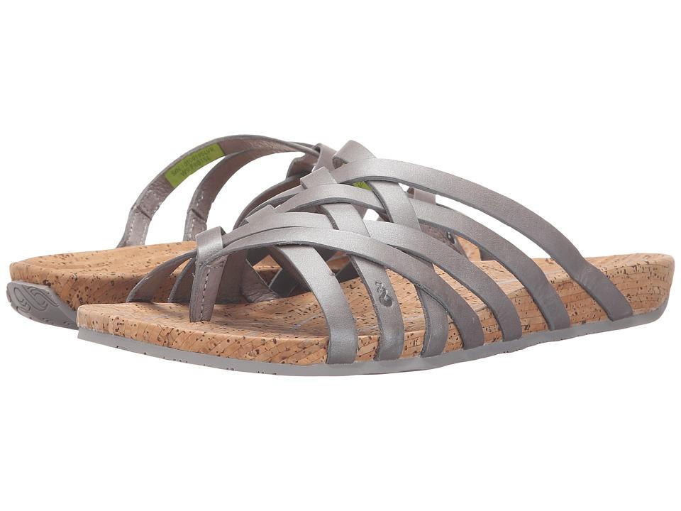 Ahnu - Maia Thong (Silver) Women's Shoes