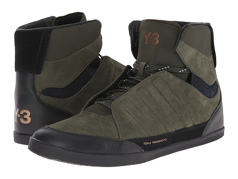 adidas Y-3 by Yohji Yamamoto - Honja High (Night Cargo/Black/Night Navy) Men's Shoes