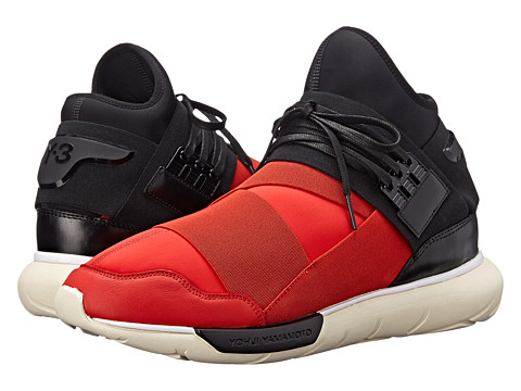 adidas Y-3 by Yohji Yamamoto - Qasa High (Roundel Red/Black) Men's Lace up casual Shoes