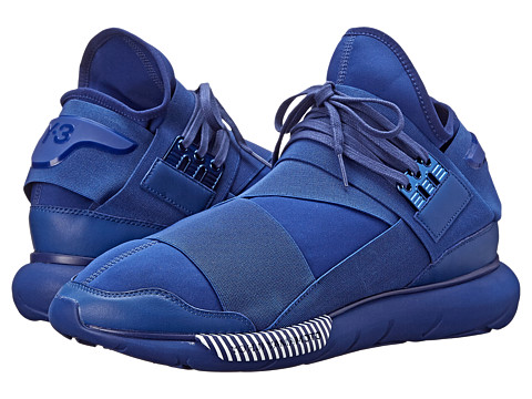 adidas Y-3 by Yohji Yamamoto - Qasa High (Roundel Blue/White) Men's Lace up casual Shoes