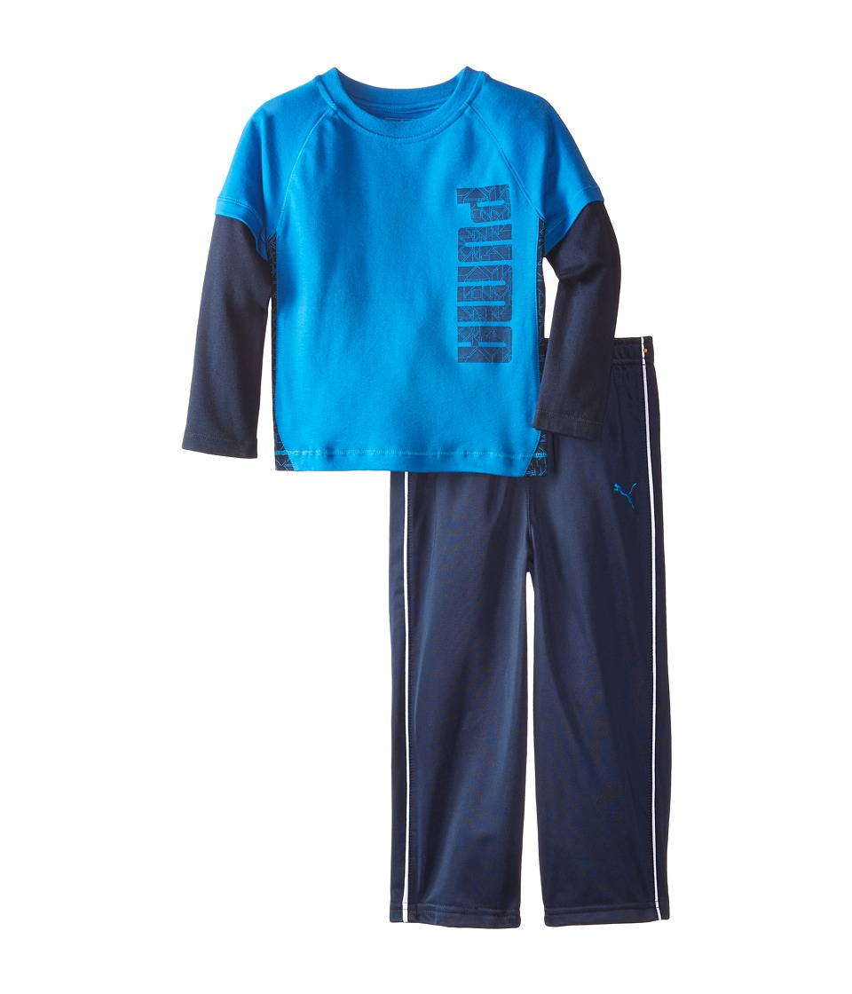 Puma Kids - Two-Piece Set (Toddler) (Sky Blue) Boy's Active Sets