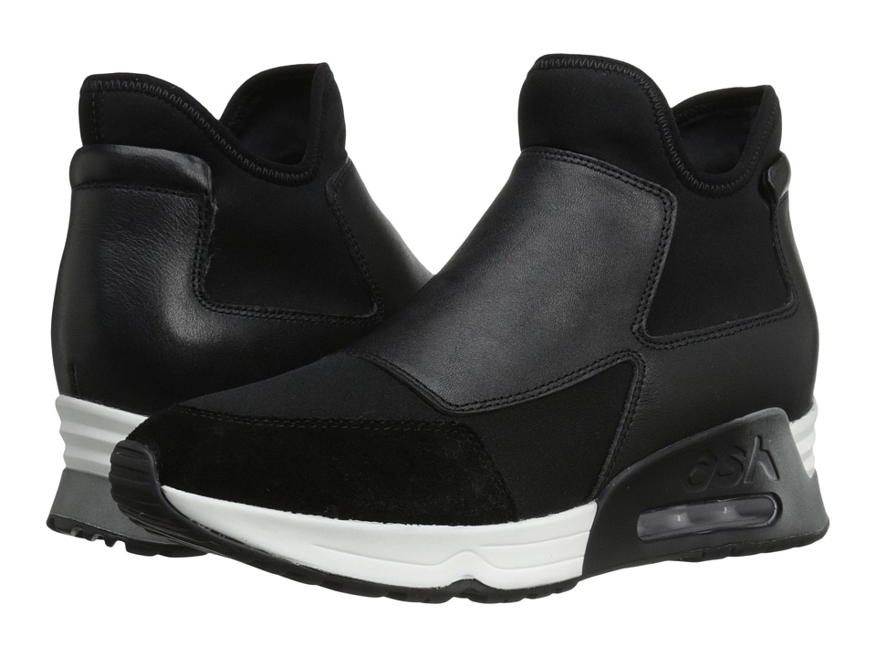 ASH - Lazer (Black/Black/Black Softy/Plain Neoprene) Women's Shoes