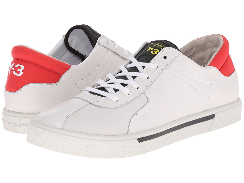 adidas Y-3 by Yohji Yamamoto - Rydge Low (White/Roundel Red) Men's Shoes