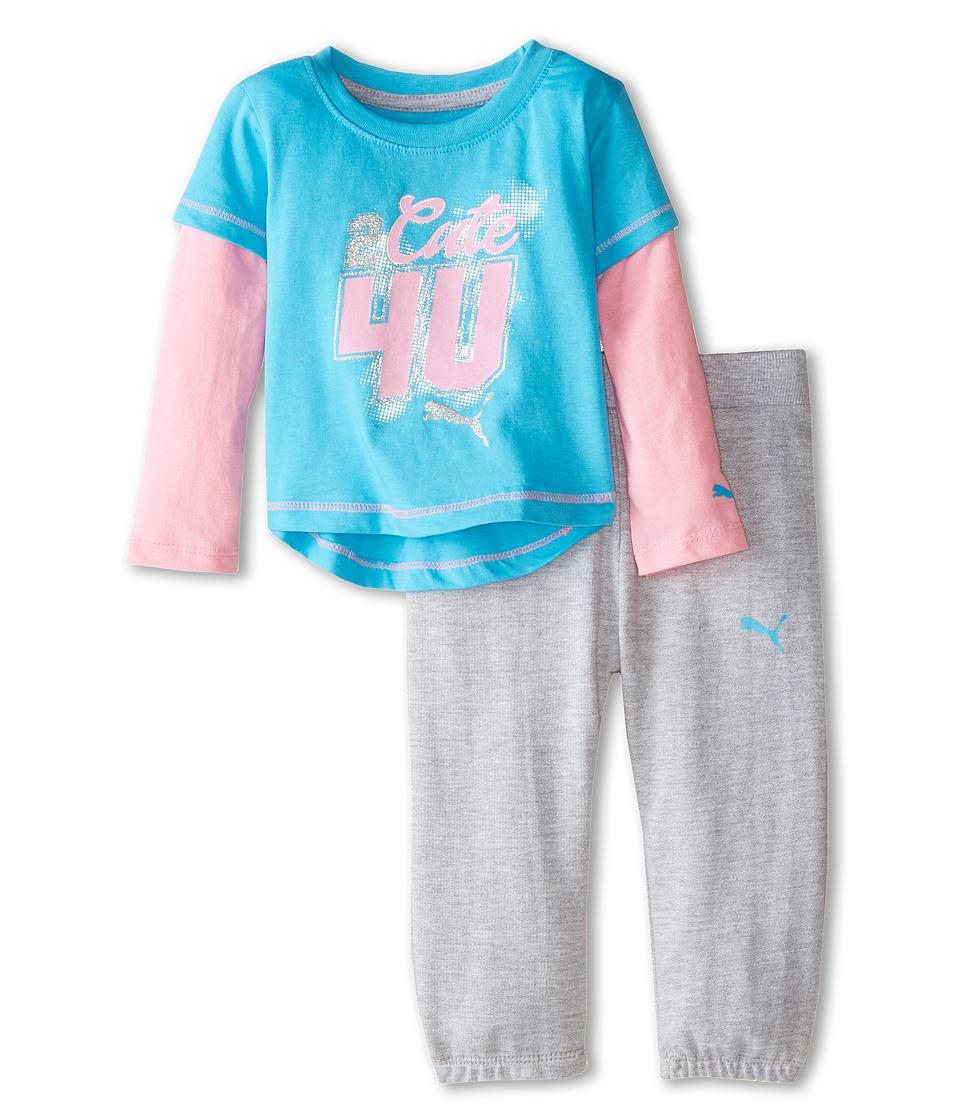 Puma Kids - Twofer and Pants Set (Infant) (Fresh Turquoise) Girl
