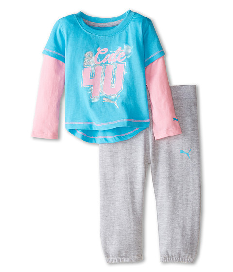 Puma Kids - Twofer and Pants Set (Infant) (Fresh Turquoise) Girl