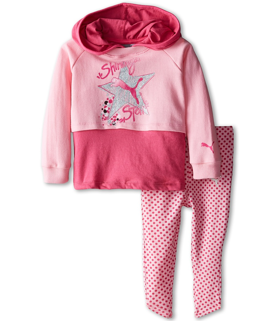 Puma Kids - Mock Twofer Leggings Set (Infant) (Pink Glo) Girl's Active Sets