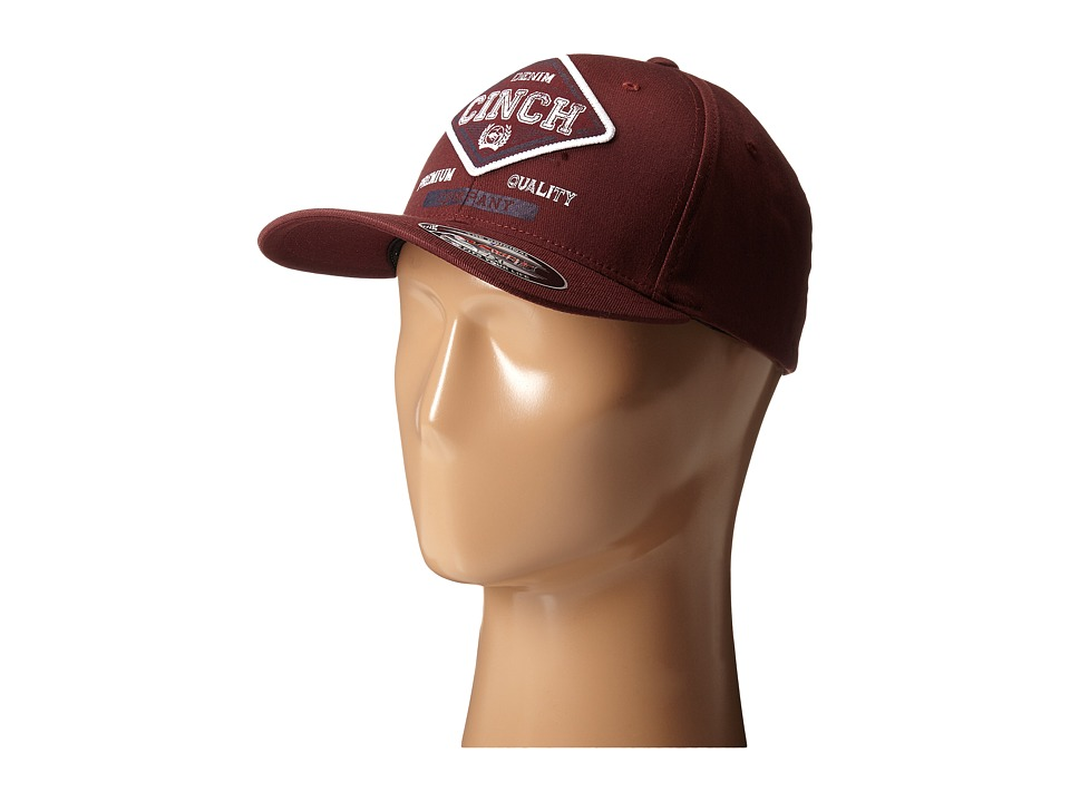 Cinch - Mid-Profile 3D Raised (Burgundy) Caps